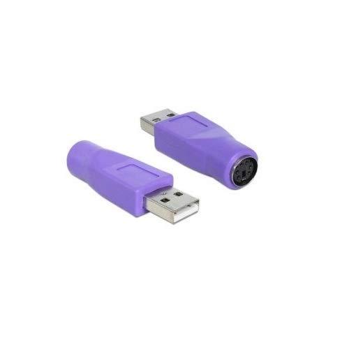 Cablepelado - adattatore da PS2a USB M/H, colore viola
