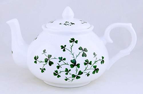 Celtic Shamrock Chintz Teapot - Fine English Bone China - Adderley of England