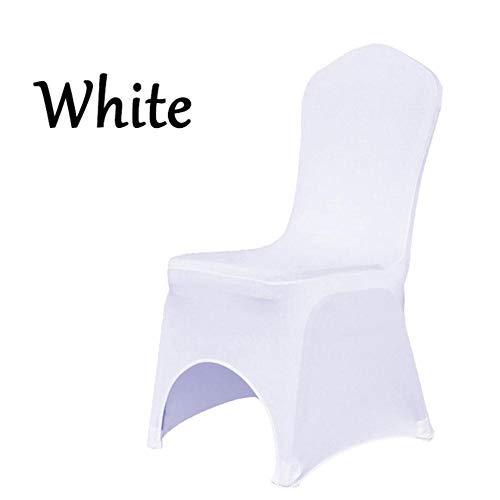 Groothandel witte polyester elastische lycra stretch banket stoelhoezen van huwelijksfeest evenement Hotel eetkamerstoel decoratie, witte stoelhoes, DUITSLAND