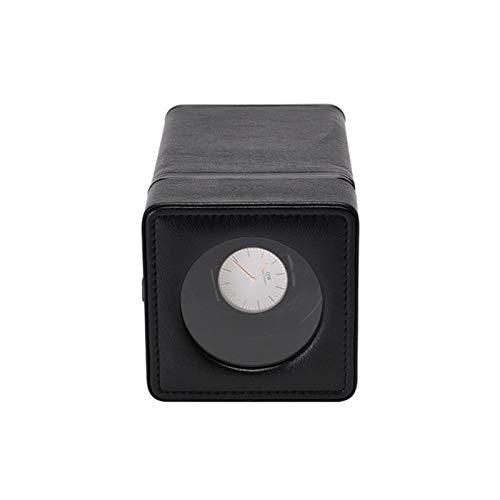 ZIXIXI Cajas giratorias Automatico Soltero Cajas Giratorias for Relojes, Lujo Cuero de PU Inteligente Mecánico Watch Winder - Rojo Negro 600g(Color:Negro)