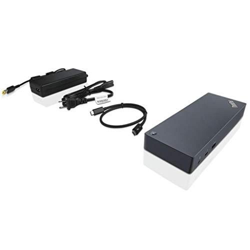 Lenovo 40AC0135EU Thunderbolt 3 Dockingstation, schwarz (Kabel, Thunderbolt 3, 10,100,1000 Mbit/s, DC, schwarz)