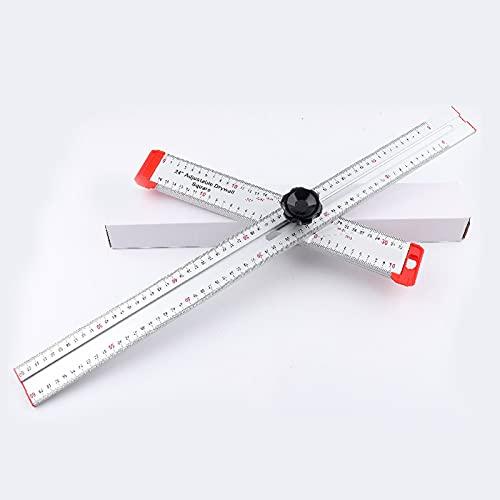 Regla de ángulo de combinación 60cm Regla de ángulo de alta precisión Calibre de marcado de escriba para carpintería Regla de tipo T Herramientas de medición