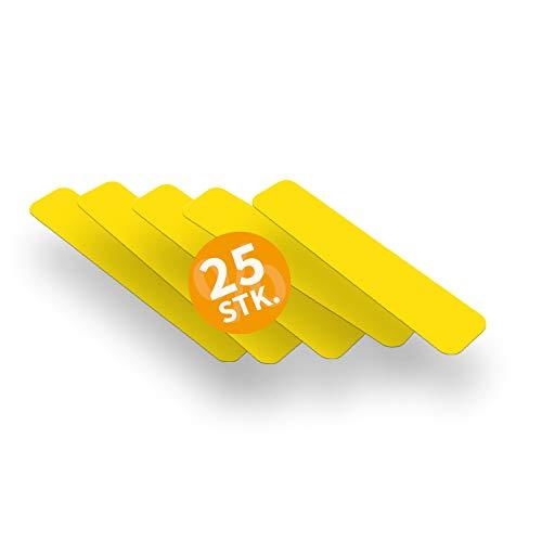 Betriebsausstattung24 Stellplatzmarkierung zur Lagerplatzkennzeichnug | TYP I-Stück | PVC selbstklebend | sofort befahrbar | 25 Stück (VE) (5,0 x 25,0 cm, gelb)