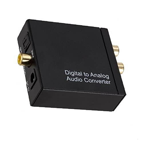 DAC Converter, Digital SPDIF Toslink to Analog STEREO Audio L/R RCA 3.5mm Adaptador de auriculares Proporciona un sonido potente