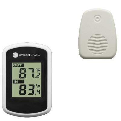 Ambient Weather WS-04-WHITE Wireless Thermometer with Indoor and Outdoor Temperature, White