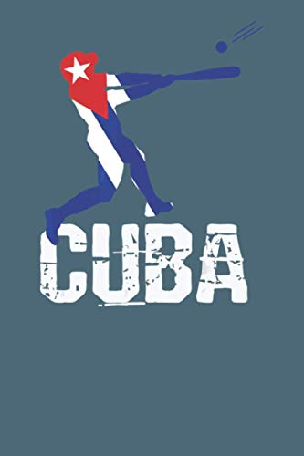 Cuba: baseball notebook 114 pages, high quality cover and (6 x 9) inches in size Funny Blank Lined Journal Coworker Notebook
