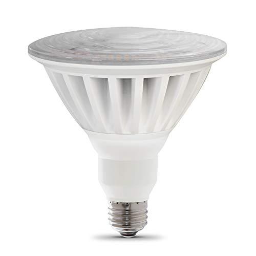 "Feit Electric PAR38/5000/5K/LED 325W Equivalent 55 Watt Non-Dimmable High Lumen PAR38 LED Light Bulb, 5""H x 4.75""D, Daylight 5000K"