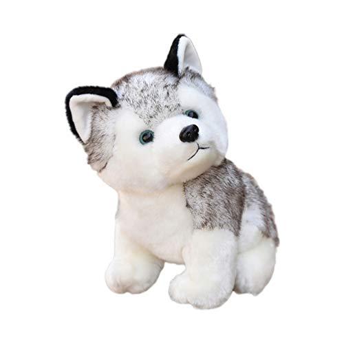 NUOBESTY Realista Peluche Husky Cachorro Perro Peluche Suave Almohada Animal de Peluche Cachorro Juguetes Regalos Decoraciones para El Hogar