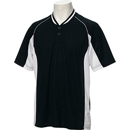 アシックス(asics) 野球 ベースボール シャツ 半袖 2ボタン BAD020 Oサイズ ブラック/ホワイト BAD020 ブラック/ホワイト O