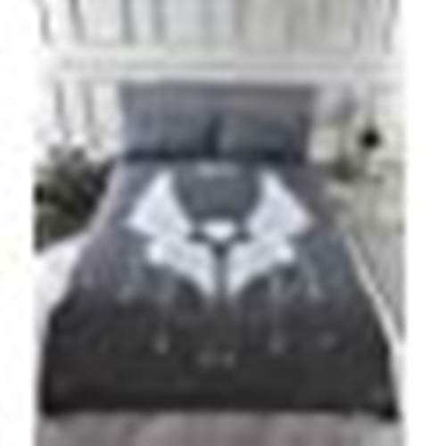 Rapport Angel Wings Double Glitter Stars Duvet Quilt Cover Bedding Set Grey