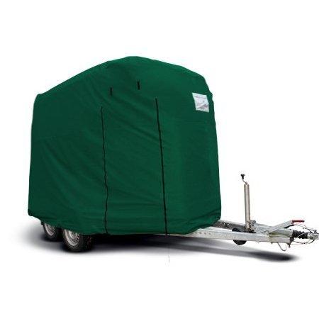 Original CAPA Schutzhaube für 2er Pferde Anhänger in extra groß als Schutzhülle Garage Schutzdach Abdeckung in Grün brittisch racing green HT-01GXL z.B. für Böckmann Bigmaster geeignet