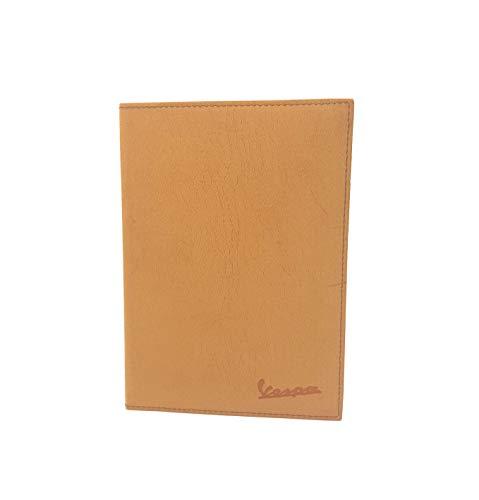 Porta documenti libretto vespa con incisione (Marrone)