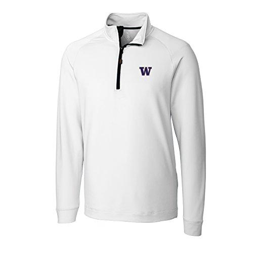 CBUK NCAA Washington Huskies Men's Jackson Half Zip Overknit Jacket, XX-Large, White