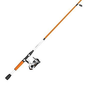 Zebco Roam Spinning Reel and 2-Piece Fishing Rod Combo Durable Fiberglass Rod with ComfortGrip Handle Right or Left-Hand Interchangeable Retrieve Orange 30SZ 662M 10lb  ROAMOR30662M.NS3