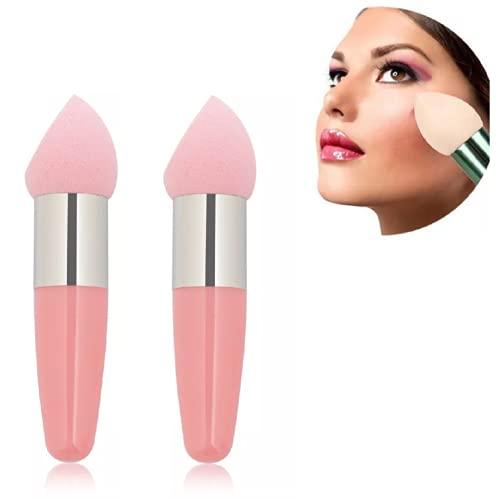 2 esponjas para brochas de maquillaje (rosa).