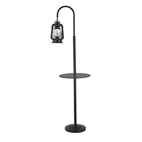 LY88 Floor Light staande lamp, nostalgische persoonlijkheid Retro Kerosin-lamp, zwart, creatief, smeedijzer, paard licht theesalon