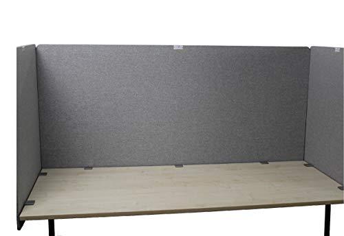 Schreibtischteiler Akustikteiler Desk Screen neueste Arbeitsschutzregel -aktuellster Standard (180 x 90 cm)- Abschirmung Rückwand Seitenwand Spuckschutz Raumteiler Sichtschutz Schallschutz