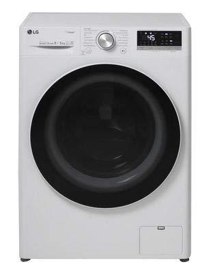 LG V4WD85S0 Waschtrockner - 8 kg Waschen / 5 kg Trocknen Weiß, 1400 U/Min