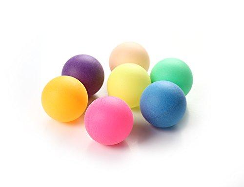 Komonee Ping Pong Tischtennisbälle 40mm Mischfarben ohne Logos (100 Stück)
