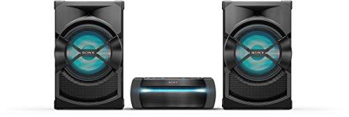 Sony SHAKE-X30 Drei Komponenten-High Power Audio System mit Partylichteffekten und Sound Pressure Horn (Bluetooth, NFC) schwarz