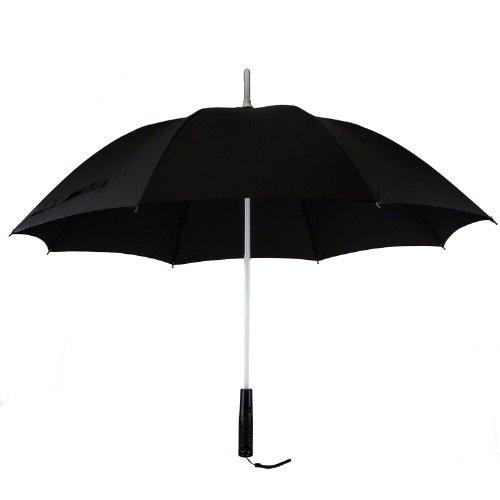 7dayshop–Multi cambia de color paraguas con construido en linterna LED (negro)