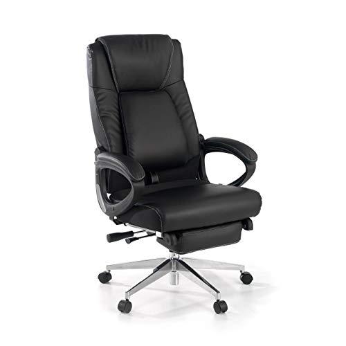 Ofichairs   Sillon Verona   Sillon de Oficina   Sillon Relax   Sillón Despacho   Simil Piel   Respaldo Alto   cojin Lumbar   reposapies   Color Negro