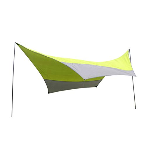 Sun Sail Shade Outdoor Canopy Awning Sunscreen Silver-plated Beach Tent Pergola Suitable For 5-8 People Easy to Use (Color : Green gray, Size : 500x500x240cm)