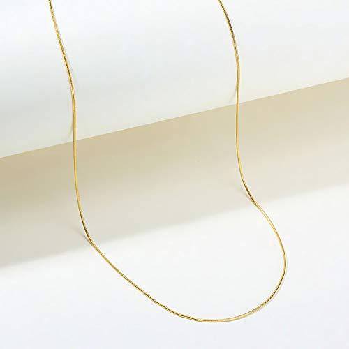 DIY Schichtung Kette 10 Stile Golden Edelstahlkette Personalisierte Panzerkette Herren Damen Erbskette Halskette Figaro-Kette,H
