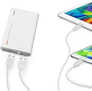 SBS TTBB100002UW Dual USB Portable Battery Backup 10400 mAh for Tablet and Smartphone - White