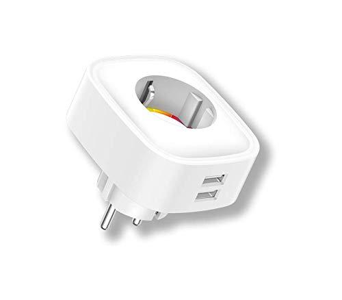 Enchufe wifi inteligente con medidor de consumo y 2 USB Energeeks