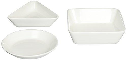Iittala Teema Lot de 3 Bols en Porcelaine Blanc 12 x 12 x 3 cm