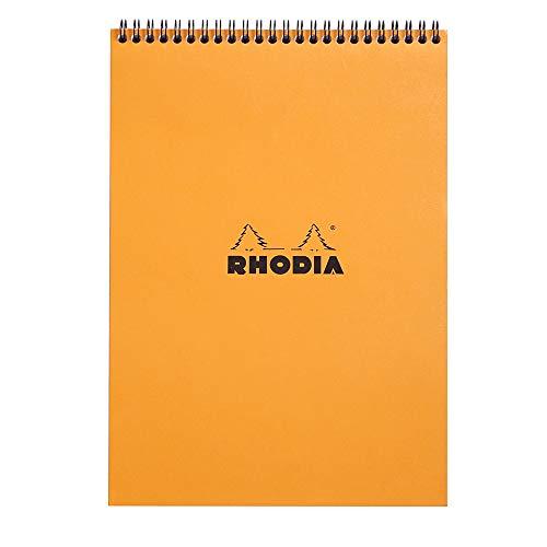 Rhodia Wirebound Notepad, A4, Square Ruling - Orange