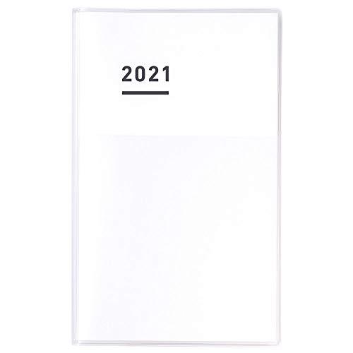コクヨ ジブン手帳 mini DIARY 手帳 2021年 B6 スリム マンスリー&ウィークリー ホワイト ニ-JCMD1W-21 2020年 11月始まり