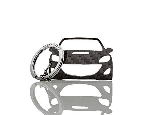 BlackStuff Carbon Karbonfaser Schlüsselanhänger Kompatibel mit Mazda 3 2009-2013 MPS BS-638