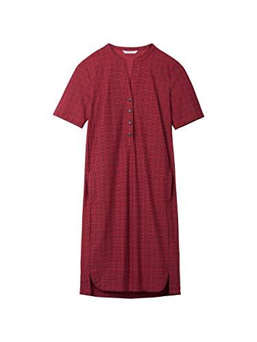 Sandwich Damen Kariertes Kleid aus Travel Jersey
