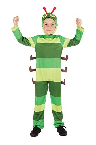 Bristol Novelty CF208 Raupe Kostüm, Jungen, grün, Größe S