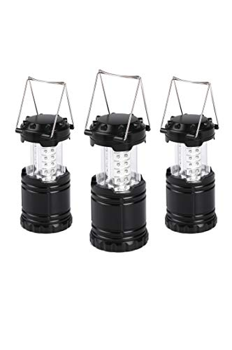 Karlscrown 3-Pack Portable Collapsible LED Camping Lanterns - Survival Kit for Hiking, Emergencies, Hurricanes, Outages, Storms, Camping, Fishing Lamp Lights
