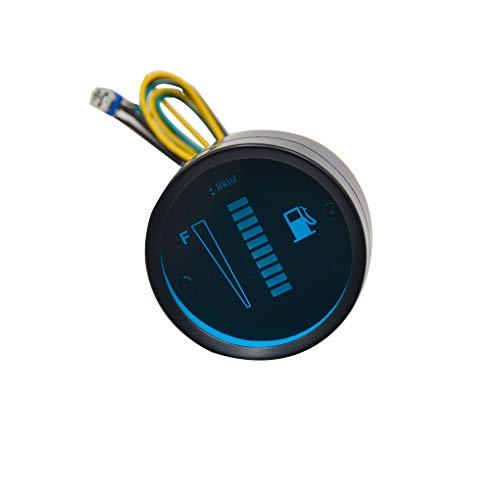 beIilan Auto-Tankanzeige LED-Tankpegelmesser Motorrad Kraftstoff Meter-Messgerät-Sensor 12V Motorrad Automobil-Aluminium-Legierung Car Styling