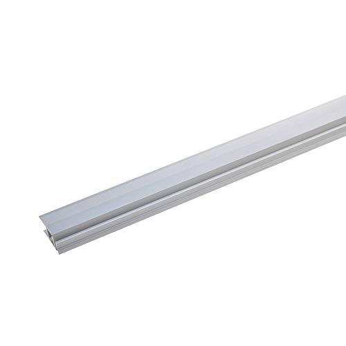 acerto 37062 Aluminium Abschlussprofil 2- teilig - 90cm – silber Klick, 7-10mm, gebohrt * Robust * Leichte Montage   Aluprofil als professionelles Wandanschlussprofil   Wand-Abschlussleiste Laminat