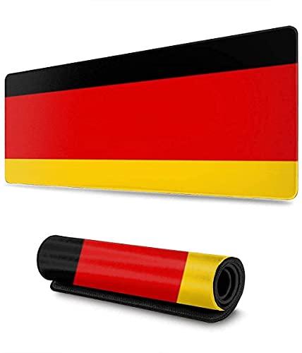 Alfombrilla de ratón con la Bandera de Alemania Alfombrilla de ratón para Juegos XL Alfombrilla de ratón Grande extendida Alfombrilla de Escritorio Base Larga Antideslizante, 30x80cm