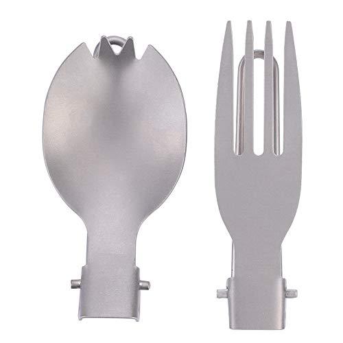 Tenedor Plegable, Mango ergonómico No es fácil de oxidar C
