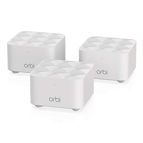 NETGEAR Orbi Whole Home Mesh WiFi System (RBK13) – Router replacement covers up to 4,500 sq. ft. with 1 Router & 2 Satellites