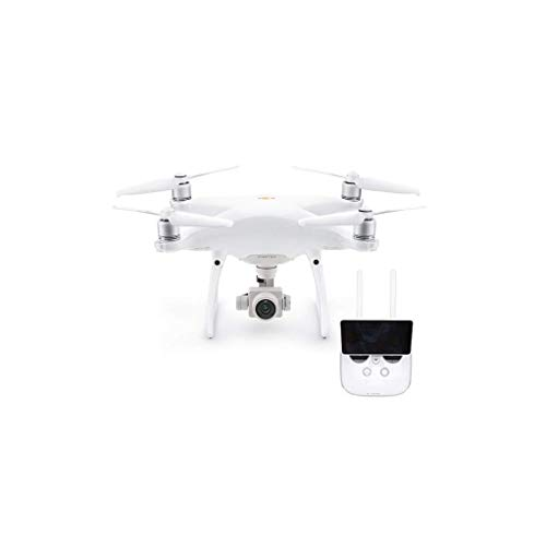 DJI Drohne P4P PRO + V2.0 - EU Modell, Video 4K/60fps und Fotos mit Burst-Funktion je 14 Fps, Integrierte Fernbedienung - weiß