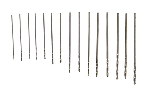 SE High Speed Steel Drill Bit Set, 0.3 to 1 mm (15 PC.) - 82615MD