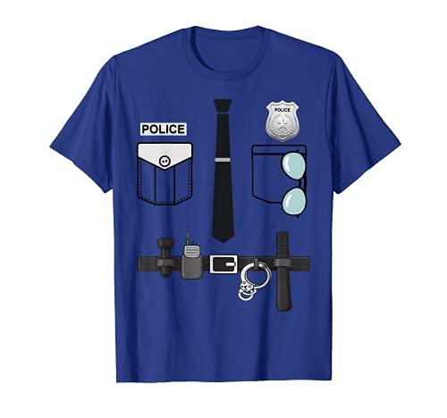 Disfraz de policía para Halloween, policía, niños pequeños Camiseta