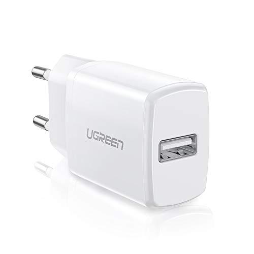UGREEN USB Ladegerät 10W USB Ladeadapter kompatibel mit iPhone X, 8, 7, 6 Plus,6s,5s,iPod, Samsung S8 S7,S7 Edge S5 S4 Mini S6 A3 A5 A6 J7 J5 J4 J3 Note 4, Huawei P8, Honor6,Nokia 8, MP3 usw.(Weiß)