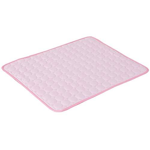 WXMJ Pet Cool Pad Ice Silk - Esterilla ligera y transpirable para perros, con pliegues duraderos