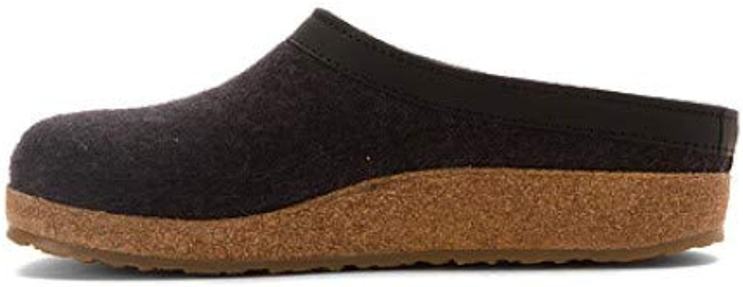 Haflinger Womens Grizzly Leather Closed Toe Clogs