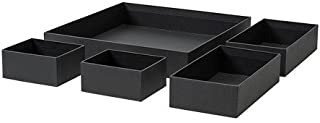 IKEA Grasidan Box Set of 5 Black 804.024.42 Fit to Alex Drawer Unit