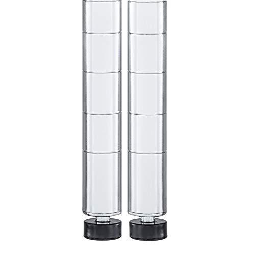 Seville Classics Shelving Poles, Chrome, 72' H x 1' ø